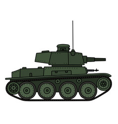 Classic green light tank vector