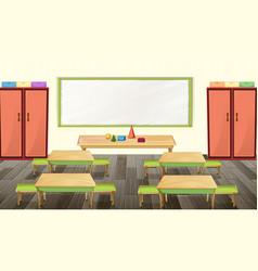 classroom interior design with furniture vector image