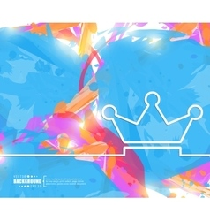 Creative crown Art template vector