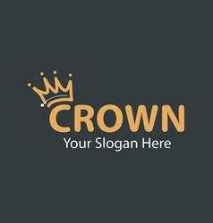 Crown logo design template vector