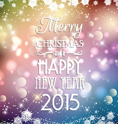 decorative christmas and new year background 2811 vector image