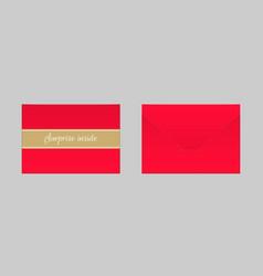 decorative red envelope mock up vector image