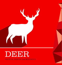 Deer design background vector