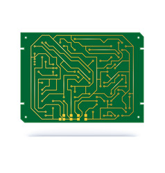 Digital circuit board isolated on white copper vector