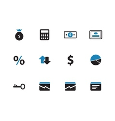 Economy duotone icons on white background vector