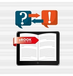 electronic book design vector image
