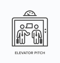 Elevator pitch flat line icon outline vector