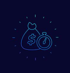 Fast loan icon linear design vector
