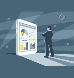 financial statistics business concept vector image