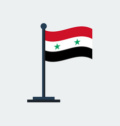 flag of syriaflag stand vector image