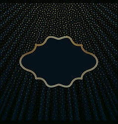 Frame on a dark background with golden polka dots vector