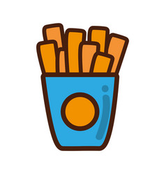 fries french fast food icon vector image