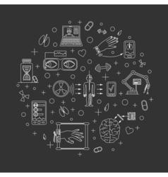 future medicine trends vector image
