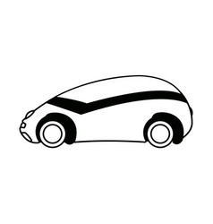 Futuristic car vehicle smart autonomous side view vector