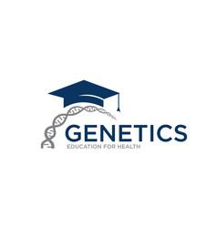 genetic education logo designs simple modern vector image