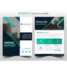 Green business brochure leaflet flyer annual vector