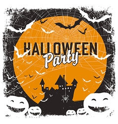 halloween party flyer isolate vector image