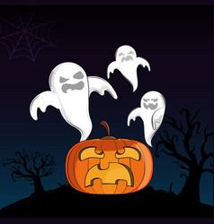halloween scary cartoons vector image