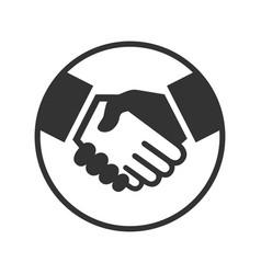 handshake sign vector image