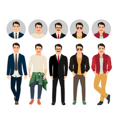 Handsome guy in casual and business vector