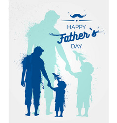 Happy fathers day flyer banner or poster vector