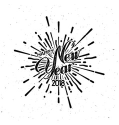 Happy new 2018 year vector
