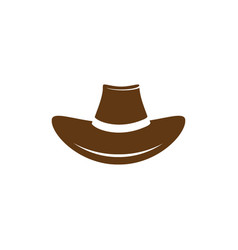 Hat west icon vector