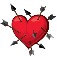 Heart and arrows vector image vector image