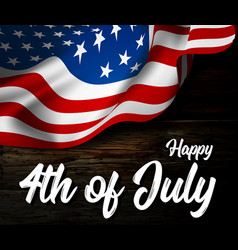 independence day with waving vector image