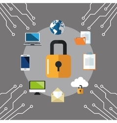 Internet security design System icon Colorful vector image
