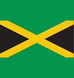 jamaica flag design vector image