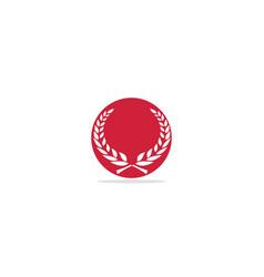 leaf ornament emblem logo vector image
