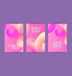 liquid color flyer design template set poster vector image