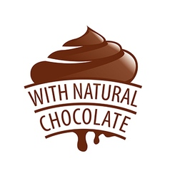 Logo with natural chocolate candy vector