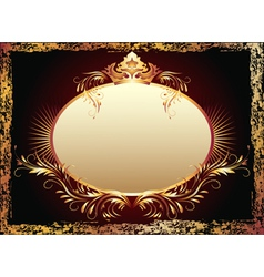 Luxurious copper ornament and crown vector