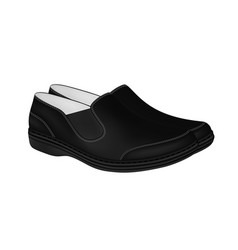 Mens shoes on white background vector