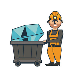 Mining and worker cartoon vector