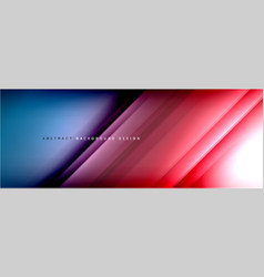 Motion concept neon shiny lines on liquid color vector