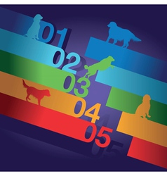 number dogs vector image