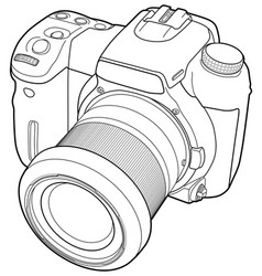 photo camera draw vector image