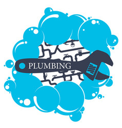 plumbing and water drops vector image