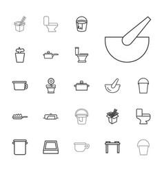 Pot icons vector
