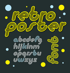 Retro lowercase english alphabet letters vector