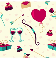 Seamless pattern for Valentines Day card vector image