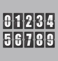 Set of numbers vector