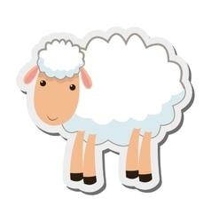 Sheep cartoon icon vector