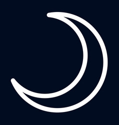 sky new moon icon outline style vector image