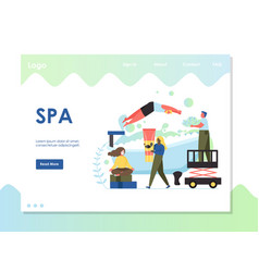 spa website landing page design template vector image