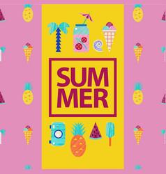Summer colorful travelling vector