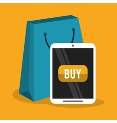 Tablet of cyber monday and shopping design vector